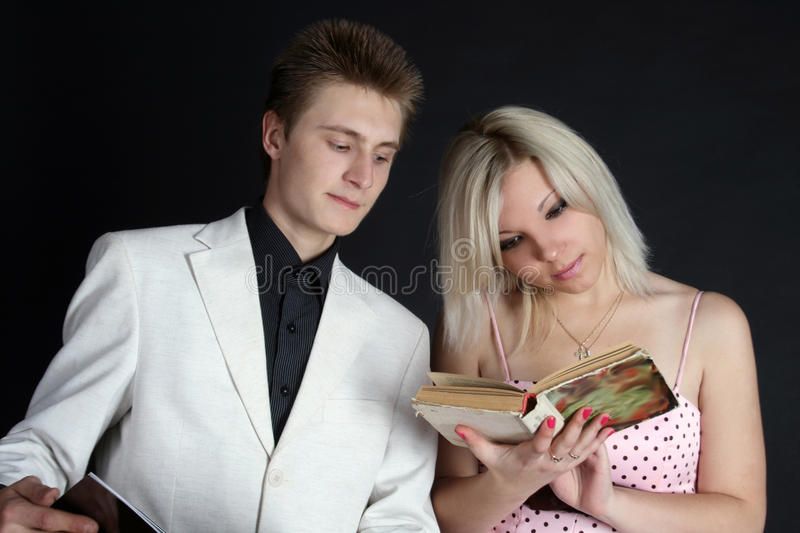 Download Two friends reading a book stock photo. Image of cute - 11269282