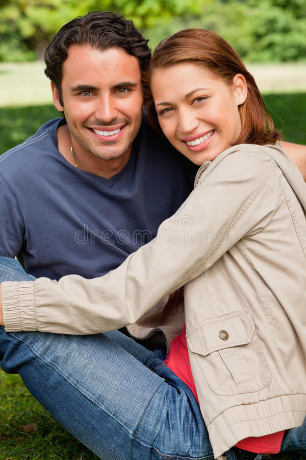 Download Two Friends Smiling In Front Of Them Stock Photo - Image: 25332184