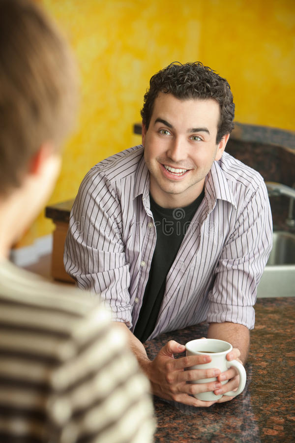 Download Two Friends Talk stock image. Image of happy, hands, unbuttoned - 21417947