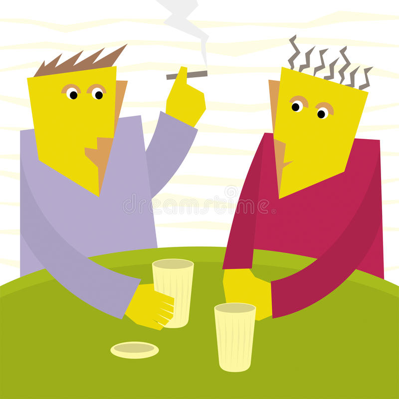 Download Two Friends Talk In A Bar Royalty Free Stock Image - Image: 10140216