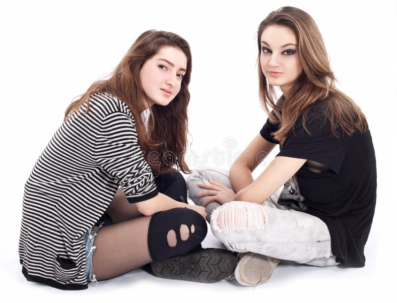 Download Two Friends Talking To Each Other. Stock Photo - Image: 18253134