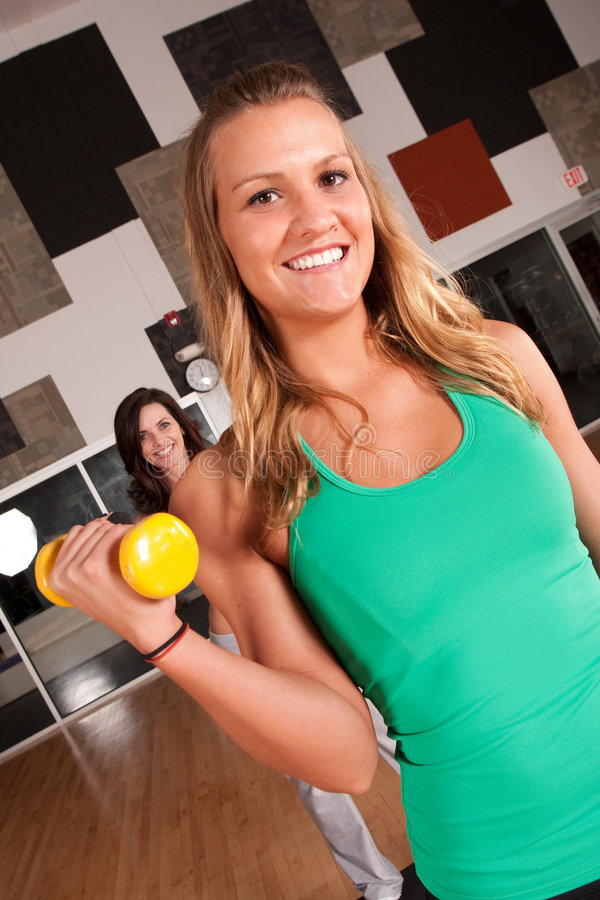 Download Two Friends Workout Together In A Gym Stock Photo - Image: 9228188