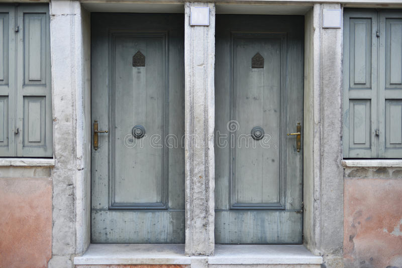 Download Two front doors stock image. Image of entrance, wood - 28551835