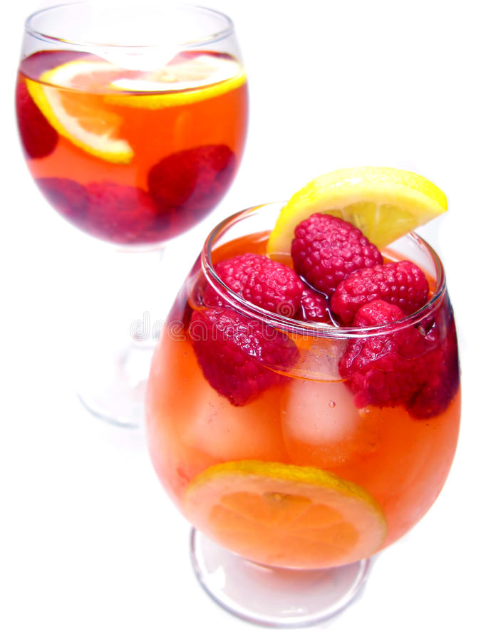 Download Two Fruit Cocktail Drinks With Strawberry Stock Photo - Image: 24507336