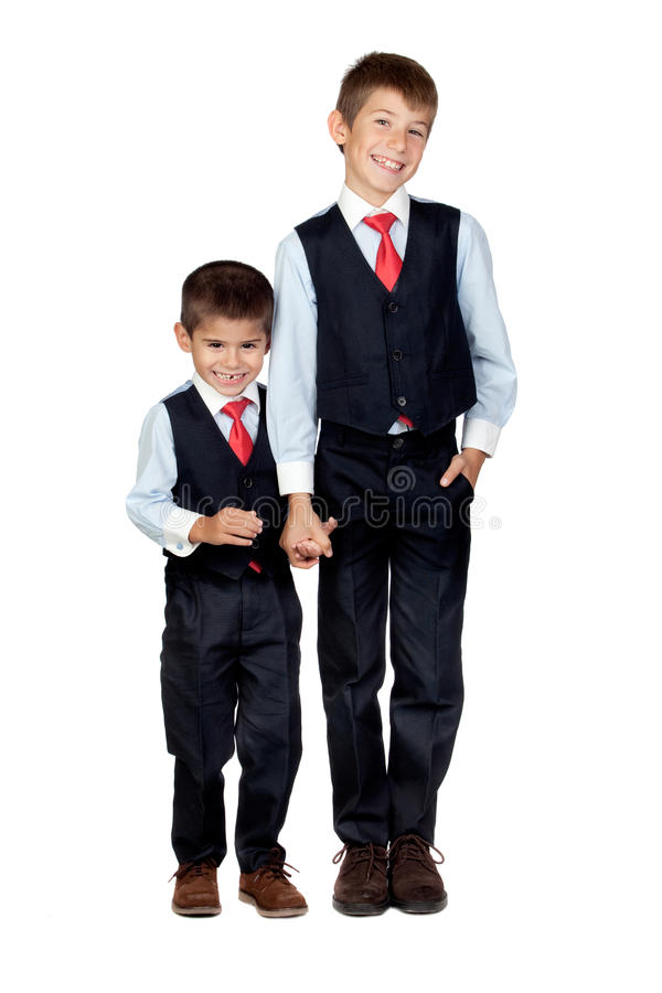 Download Two funny businessmen stock image. Image of little, future - 22171779
