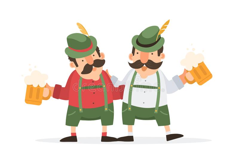 Oktoberfest beer festival. Vector illustration. stock illustration
