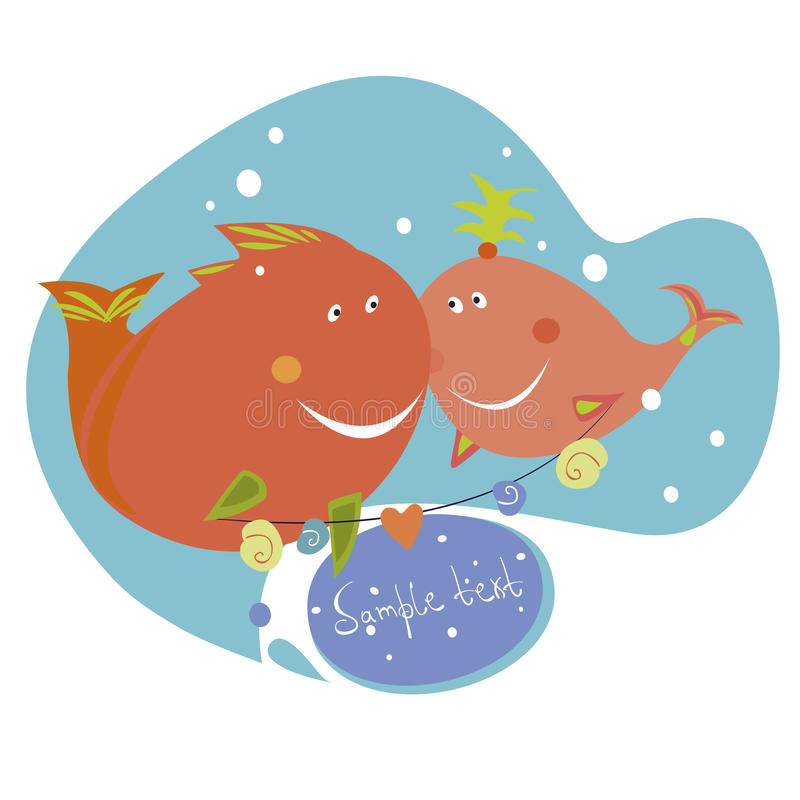 Download Two funny fishes stock vector. Image of animals, painting - 31033760
