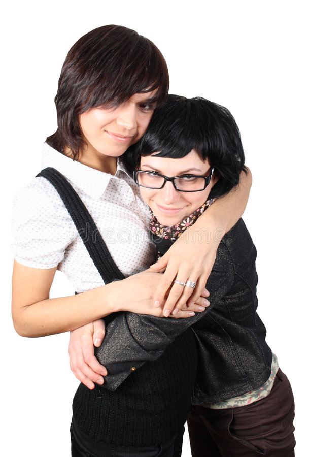 Two funny girls royalty free stock photos