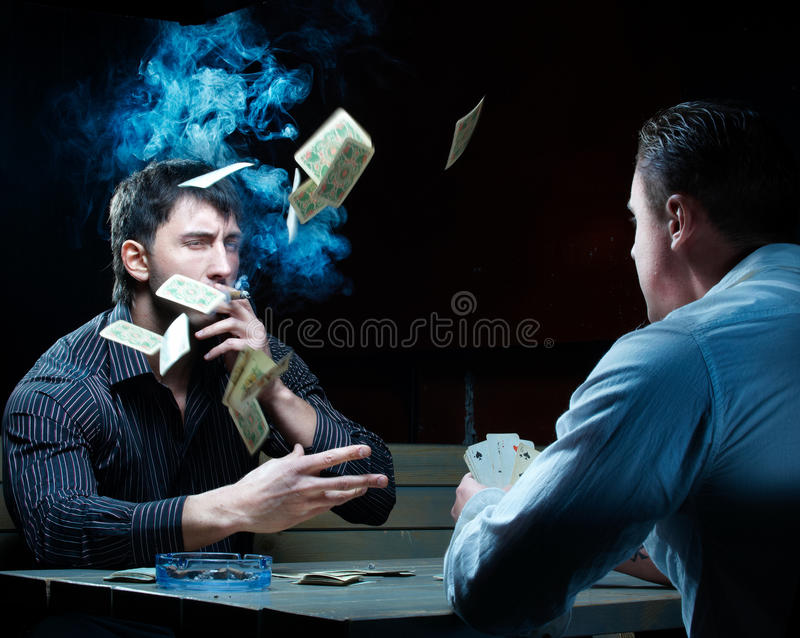 Two Gamblers Stock Photography