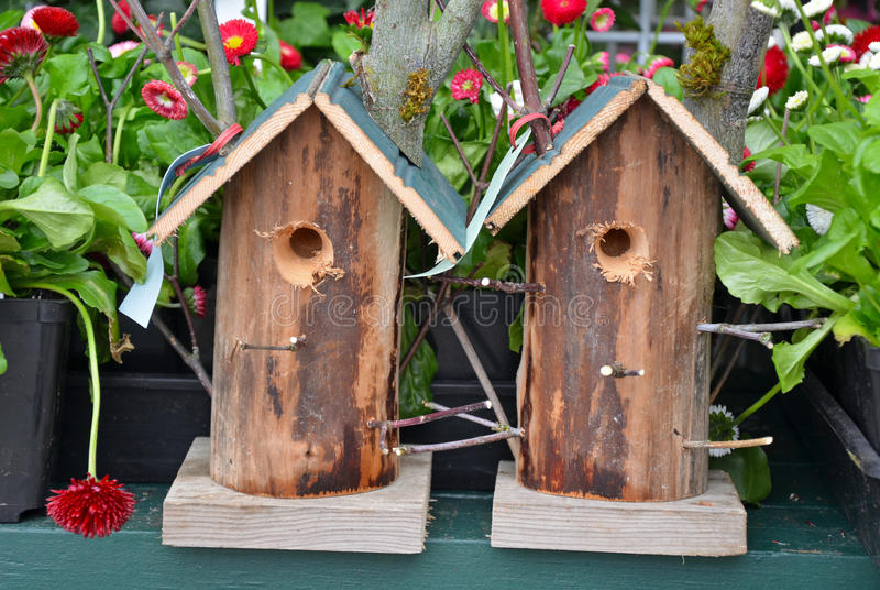 Download Two Garden Birdhouses Stock Image. Image Of Hobby, Springtime    30496019