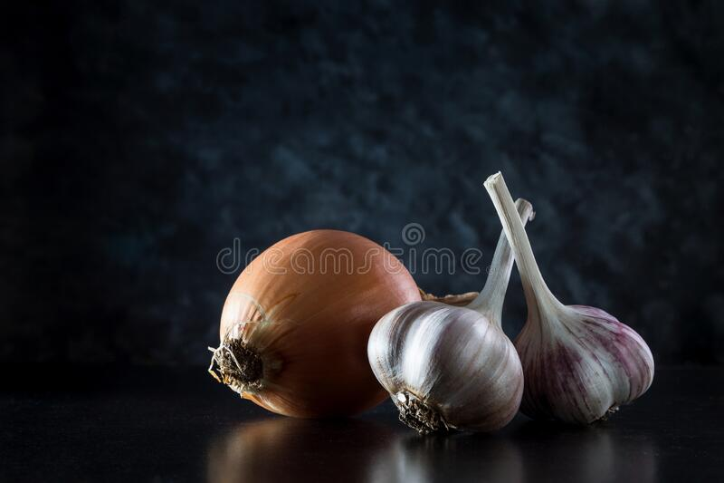 Image with garlic. royalty free stock photography