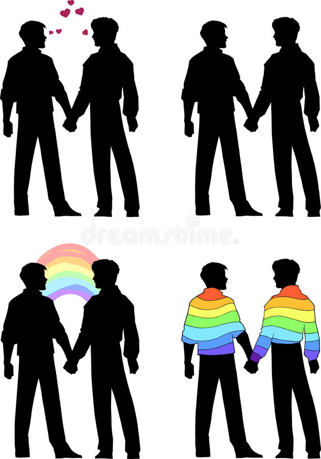 Gay guys holding hands — 3