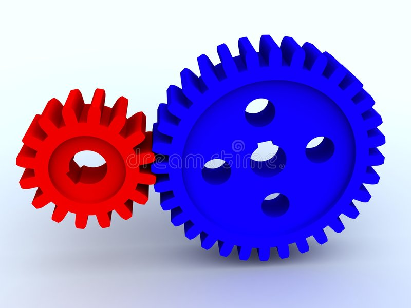 Two gears stock illustration