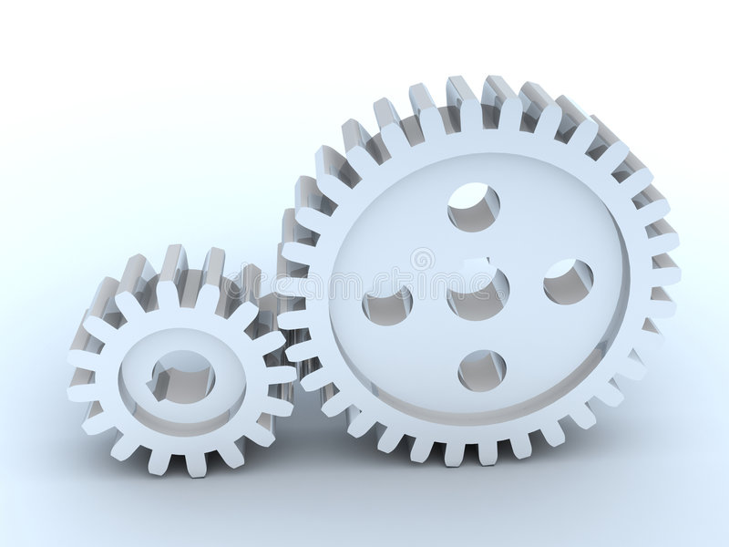 Two gears vector illustration