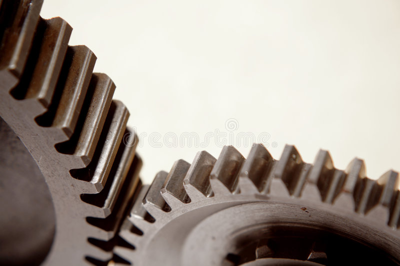 Two gears royalty free stock images