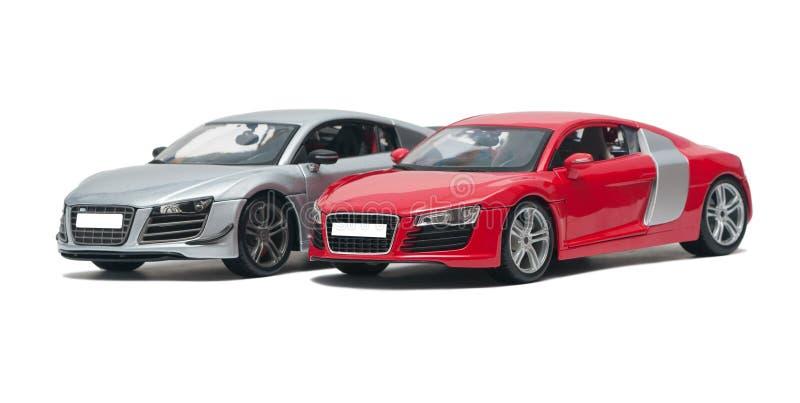 Two German sports car. Premium on white background royalty free stock image