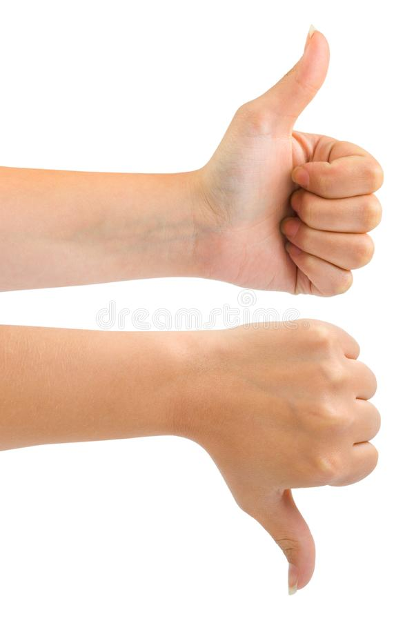 Two gesturing hands royalty free stock image