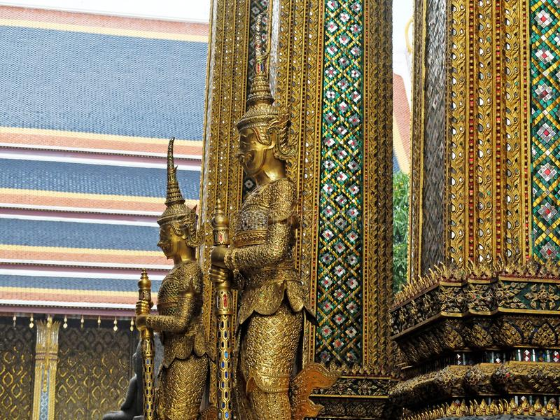 Two Giants in front of The Door of Grand Temple stock photography