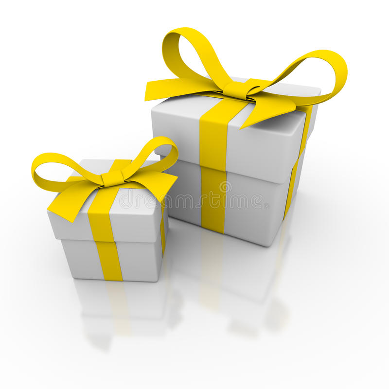 Free Two Gift Box Royalty Free Stock Photography - 15734187