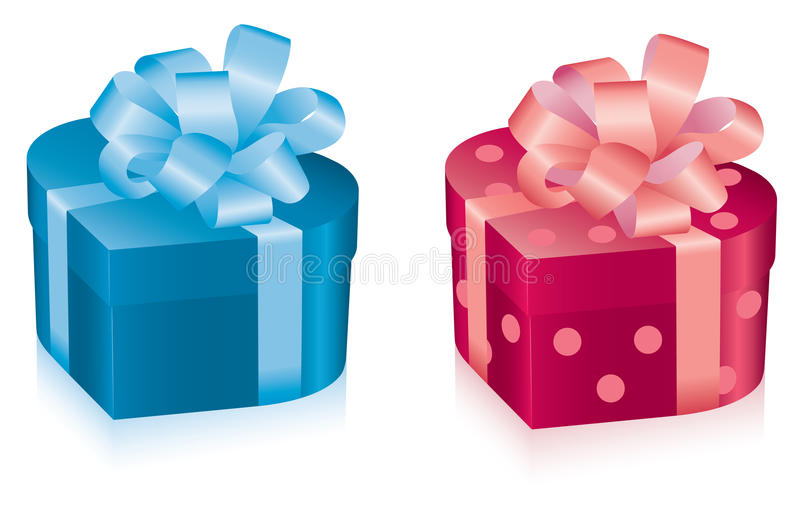 Download Two gift boxes stock vector. Image of present, cheerful - 17084859