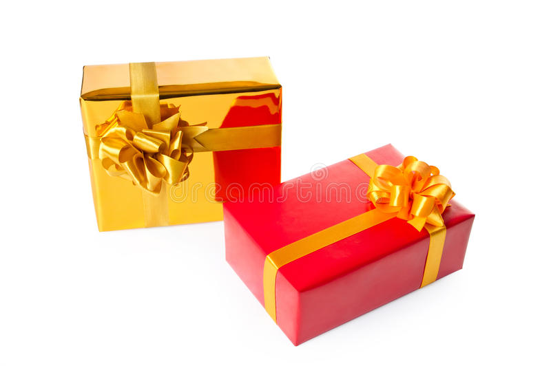 Download Two gift boxes stock photo. Image of decoration, isolated - 22403616