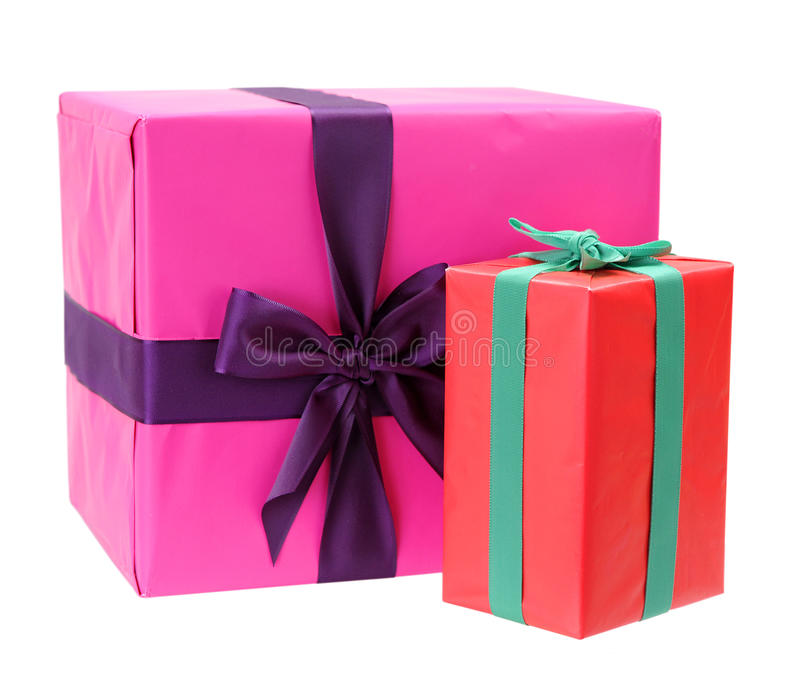 Download Two gift boxes stock photo. Image of color, anniversary - 35026876