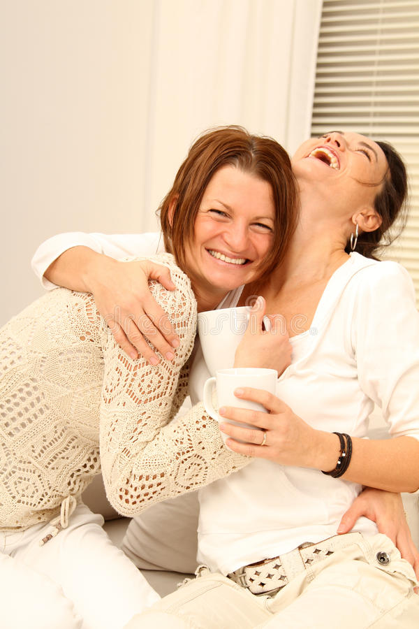 Free Two Girl Friends Laughing Loud Stock Photos - 15677123