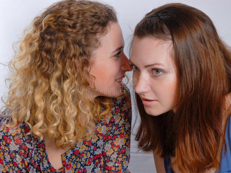 Download Two Girl Friends Sharing A Secret Stock Photo - Image: 12567214