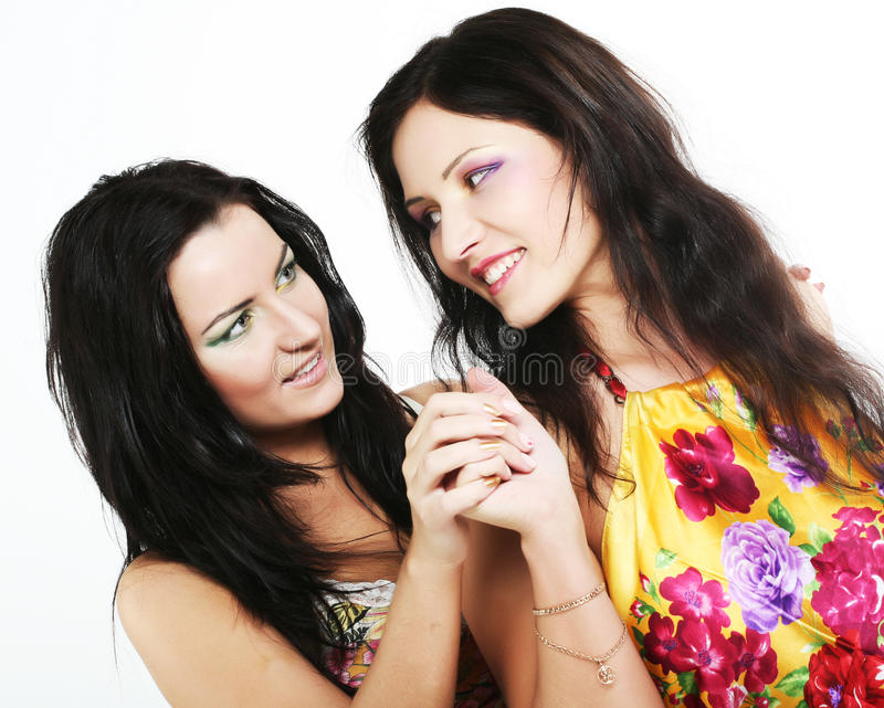 Download Two Girl Friends Together Smiling Stock Image - Image: 12820911