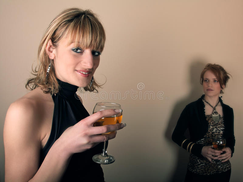 Two Girl In The Party Stock Photo