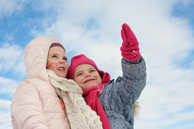 Two cute girl. stock photography