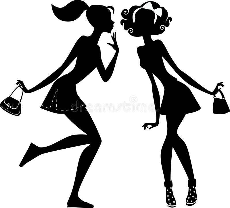 Download Two girlfriends talking stock vector. Illustration of girls - 31402501