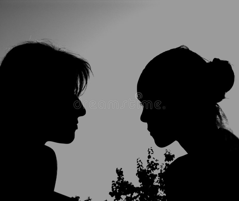 Download TWO GIRLS }{ stock photo. Image of portraits, lips, lipstick - 193954