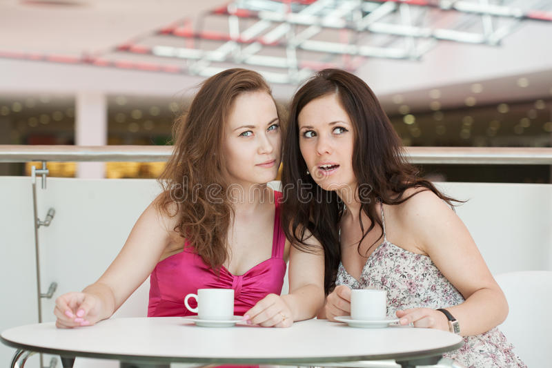 Download Two girls stock photo. Image of shop, person, gossip - 21768606