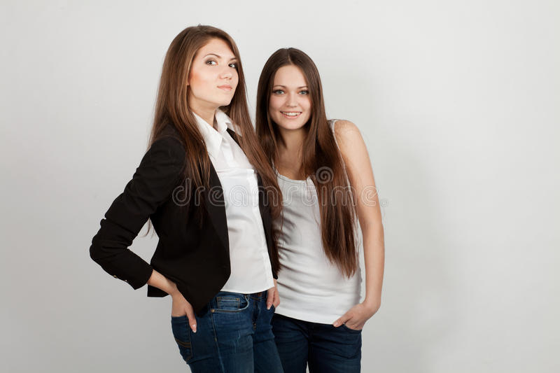 Download Two girls stock image. Image of positive, attractive - 22796427