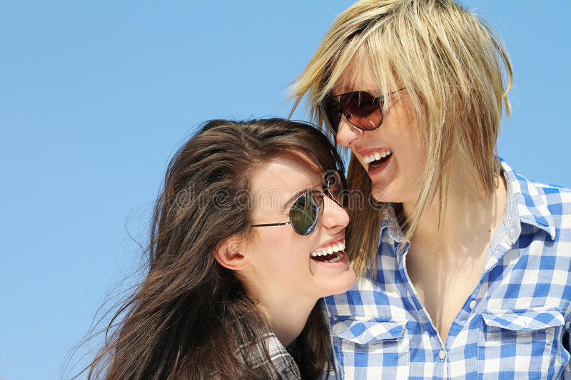 Download Two girls stock photo. Image of student, reaction, smile - 24204404