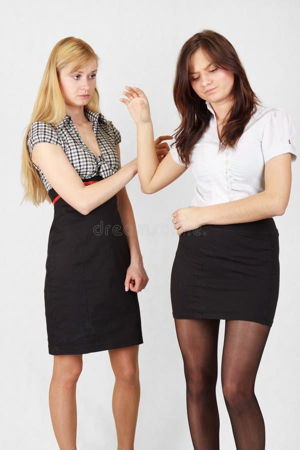 Download Two girls stock image. Image of dress, sorrow, depress - 24300847