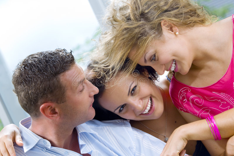 Download With two girls stock photo. Image of group, laugh, friendship - 6986316