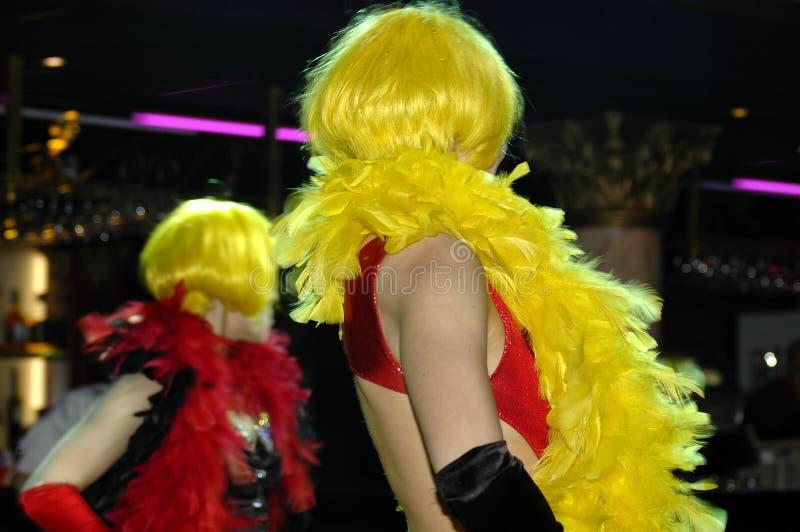 Download Two Girls Dancing stock image. Image of joyful, wigs, glitter - 119513