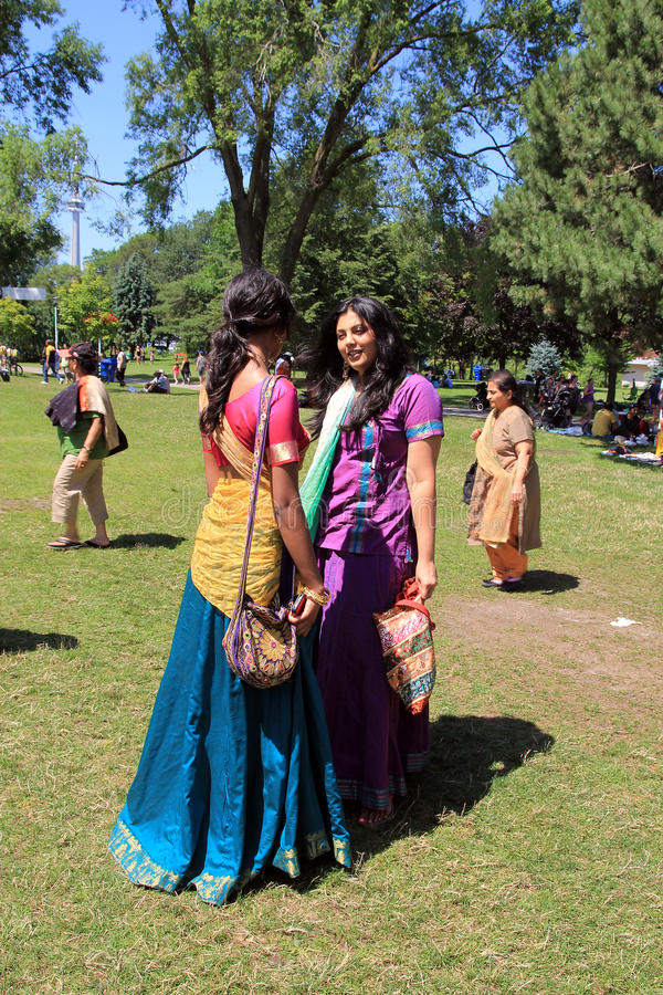Two Girls at Festival stock image