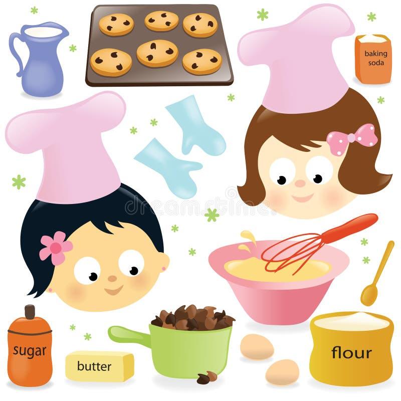 Free Two Girls Having Fun Baking Stock Photos - 22437653
