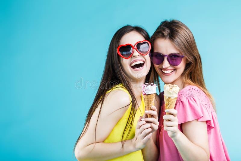 Two Girls with Icecream stock photos