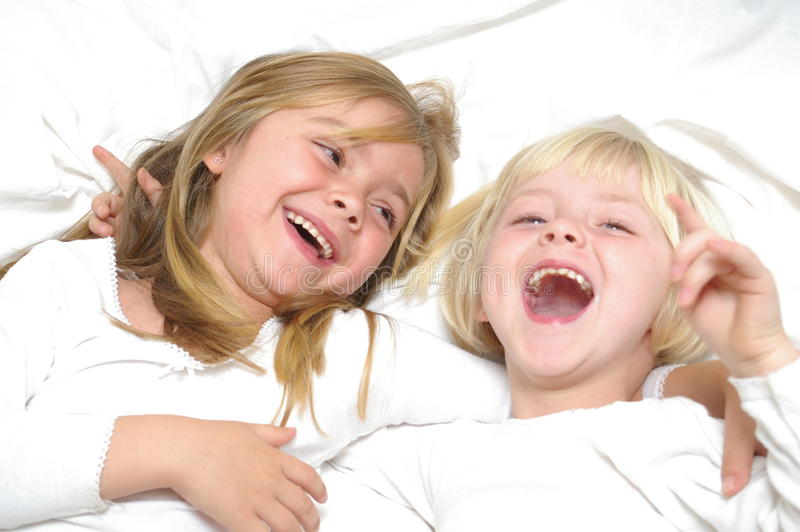 Two Girls Laughing royalty free stock photo