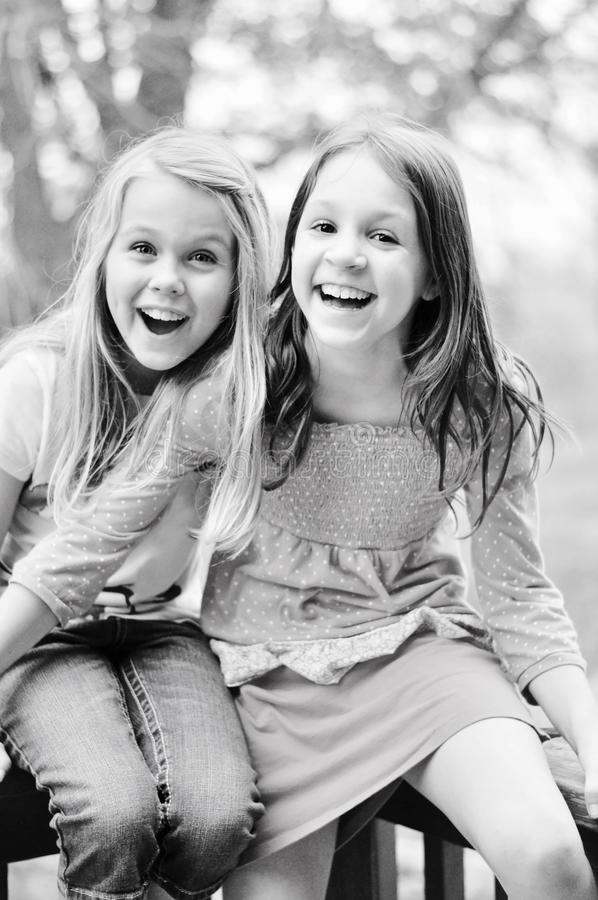 Free Two Girls Laughing Stock Photography - 42285422