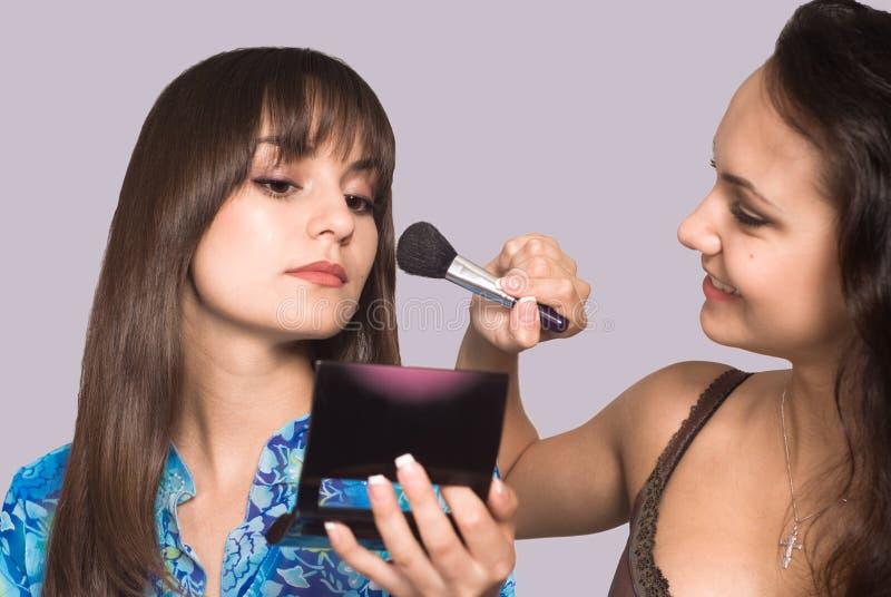 Download Two girls making up stock image. Image of women, shot - 21100335