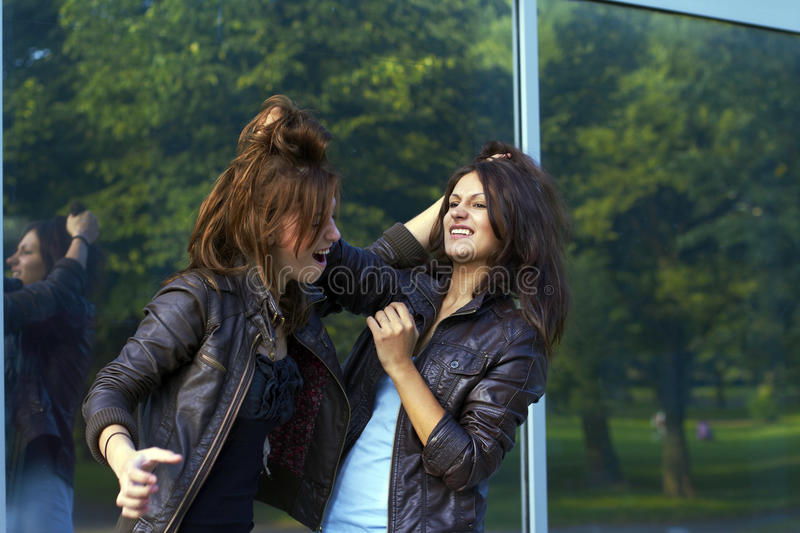 Download Two Girls Pulling Each Other's Hair Stock Photo - Image: 21090922