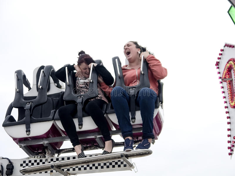 Download Two Girls Screaming On A Fairground Ride Editorial Image - Image: 33466150