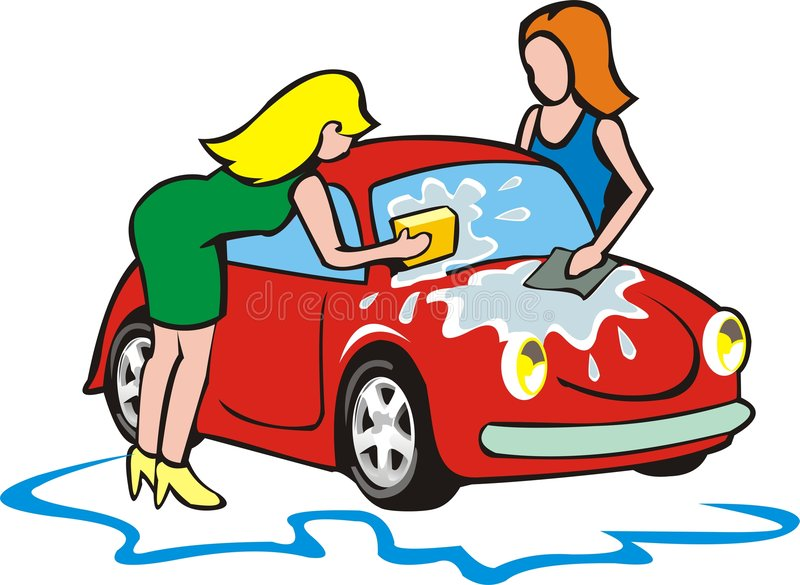 Download Two girls wash small car stock vector. Image of bubble - 6318367