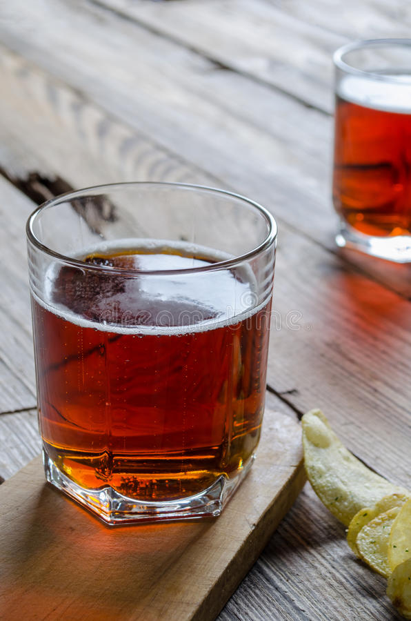 Two glass beer royalty free stock photos