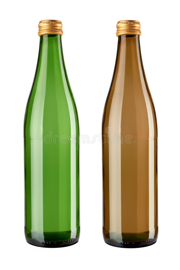 Free Two Glass Bottles Stock Image - 30367411